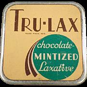 Vintage Laxative Tin - Tru-Lax Chocolate Mintized Laxative
