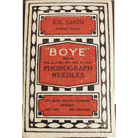 Vintage Phonograph Needles - Boye - Unopened Package