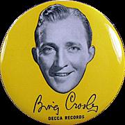 Vintage Record Duster - Bing Crosby Decca Records Advertising