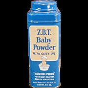 Vintage Baby Talc Tin - Z.B.T. Baby Powder Tin