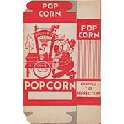 Vintage Popcorn Box - Popcorn Vendor Graphics - Never Used