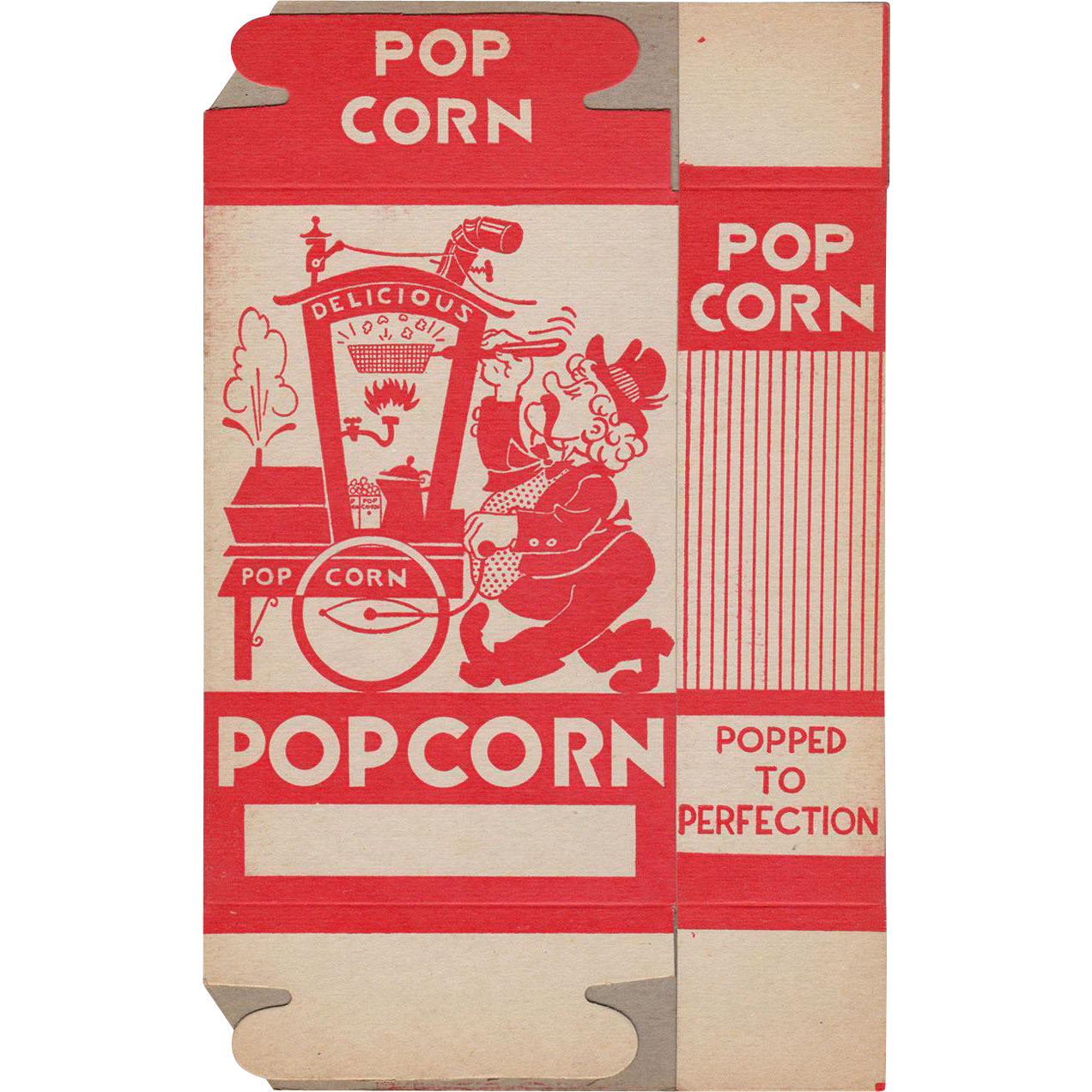 Vintage Popcorn Box - Popcorn Vendor Graphics - Never Used