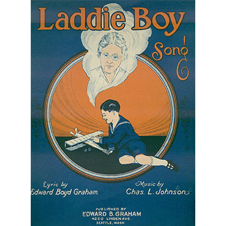 Vintage Sheet Music - Laddie Boy - Dedicated to the Orphans of the World - 1925