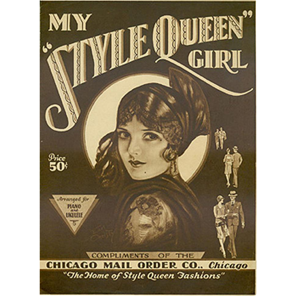 Vintage Sheet Music - My Style Queen Girl - 1929