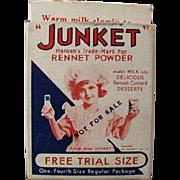 Vintage Junket Trial Sample Box - Miniature Box with Little Miss Junket