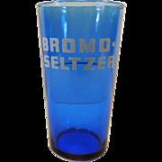 Vintage Cobalt Blue Bromo-Seltzer Glass
