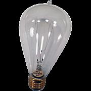 Vintage Electric Light Bulb – 32/120 Sunlight - Looped Filament - Works