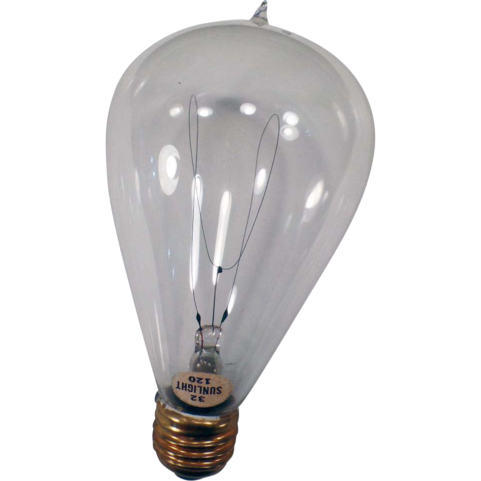 Vintage Electric Light Bulb – 32/120 Sunlight - Looped Filament - Works