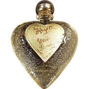 Vintage Perfume Bottle - Little White Shoulders Sample - Heart Shaped Bottle with Original Label
