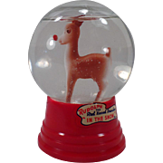 Vintage Snow Dome – Rudolph the Red Nosed Reindeer in the Snow