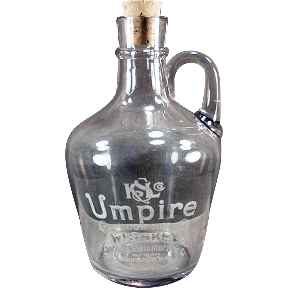 Vintage Back Bar Bottle - Umpire Whiskey Jug