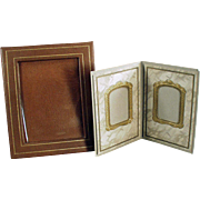 Two Vintage Photograph Frames - Paper Easel Frames - Nice for a Desk or Mantle