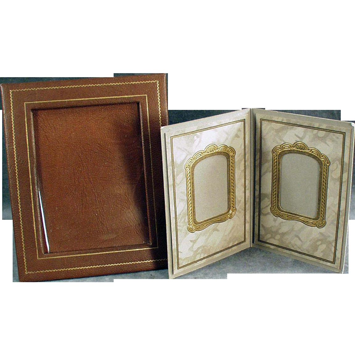 Two Vintage Photograph Frames - Paper Easel Frames - Nice for a Desk or Mantle