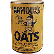 Vintage Oat Box Sample - Armour's Oat Cereal Box with Elf Graphics