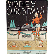 Vintage Sheet Music and Coloring Book - Kiddies' Christmas