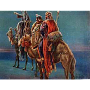 Vintage Celluloid Blotter - Christmas Greeting from 1st National Bank - Three Wise Men
