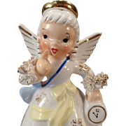 Vintage Birthday Angel Porcelain Figure – January Birthday Girl - Napco