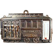 Vintage San Francisco Souvenir - Old Cable Car Plaque