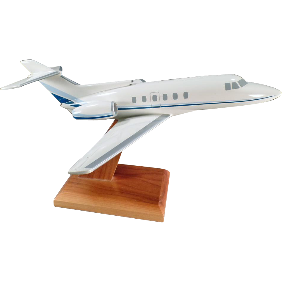 Vintage Executive Desk Model - Raytheon Hawker 700 Jet Airplane Model