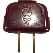 Vintage Bakelite Winker Plug Adapter – Light Blinker - Flasher Perfect for Christmas Lights
