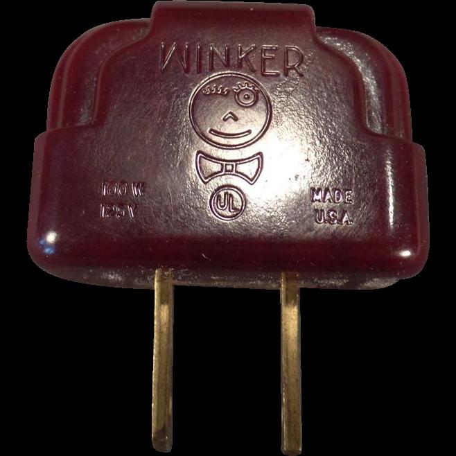 Vintage Bakelite Winker Plug Adapter – Light Blinker - Flasher