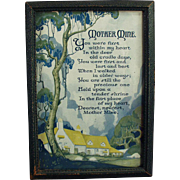 Vintage Motto Print - Poem Mother Mine - 1921
