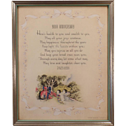 Vintage Buzza Motto Print – Your Anniversary by Edgar A. Guest - 1942