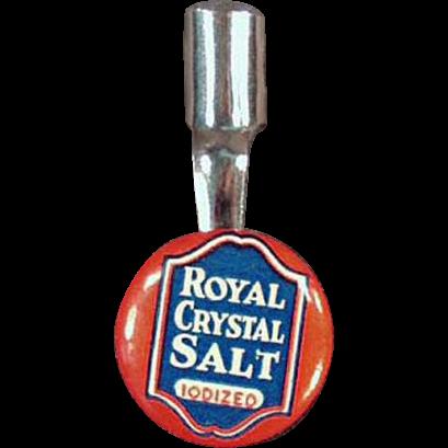 Vintage Pencil Clip - Royal Crystal Salt Advertising - Celluloid