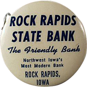Vintage Celluloid Tape Measure - Rock Rapids State Bank Advertising Tape Measure