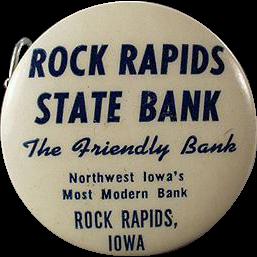 Vintage Celluloid Tape Measure - Rock Rapids State Bank Advertising Tape Measure