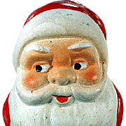 Vintage Santa Candy Container - U.S.Zone Germany - Colorful Santa Claus