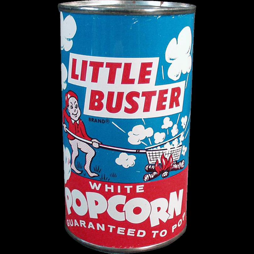 Vintage Popcorn Tin - Little Buster - Full, Never Opened Tin
