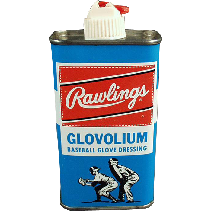 Vintage Rawlings Glovolium Tin - Leather Baseball Glove Dressing Tin