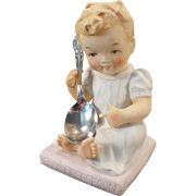 Vintage Ceramic Arts Studio Figure - Baby's First Spoon with Chalice/Harmony Spoon