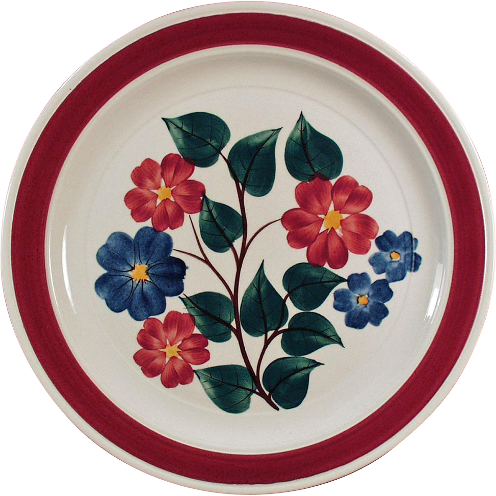 Three Vintage Vernon Kilns Dinner Plates in #836 Pattern - 3  Plates