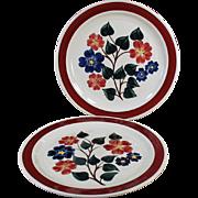 Vintage Vernon Kilns Dinner Plates in #836 Linda Pattern - 2 Plates