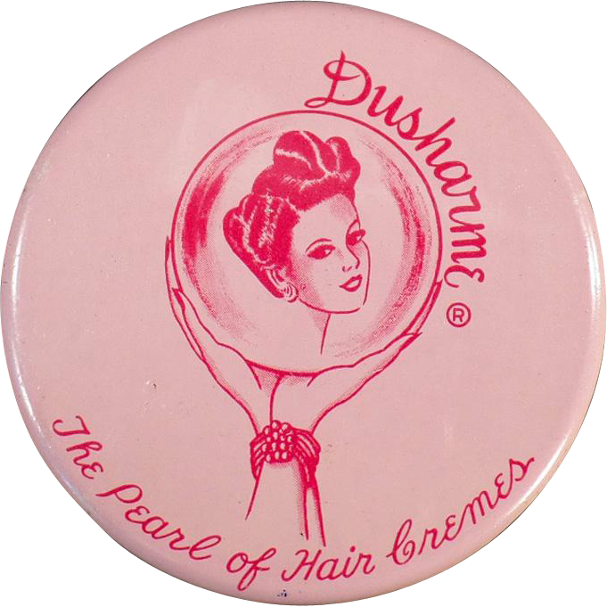 Vintage Dusharme Hair Creme Jar - Little Purse Size Jar