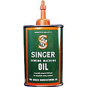 Vintage Singer Sewing Machine Oil Tin - Old Sewing Machine Oiler