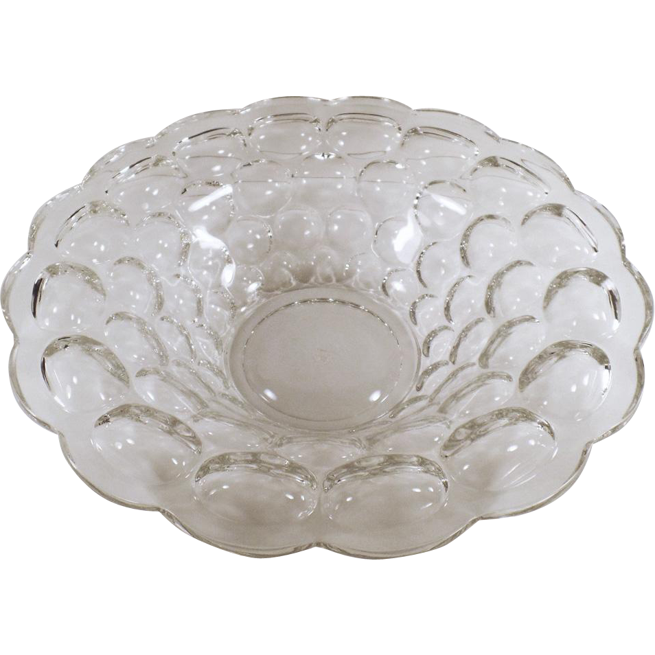 Vintage Heisey Console Bowl - Clear Provincial Pattern