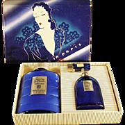 Vintage Perfume Bottles - Evening in Paris Boxed Set - Talc & Perfume Bottles