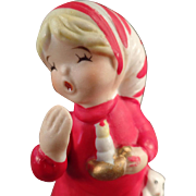 Vintage Porcelain Christmas Bell - Bedtime Bell with Original Hang Tag