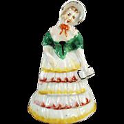 Vintage Southern Belle Napkin Ring - Figural Porcelain