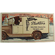 Vintage Ink Blotter - Planters Peanut Advertising with Mr. Peanut