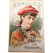 Vintage Trade Card - 1891 Armour's Vigoral