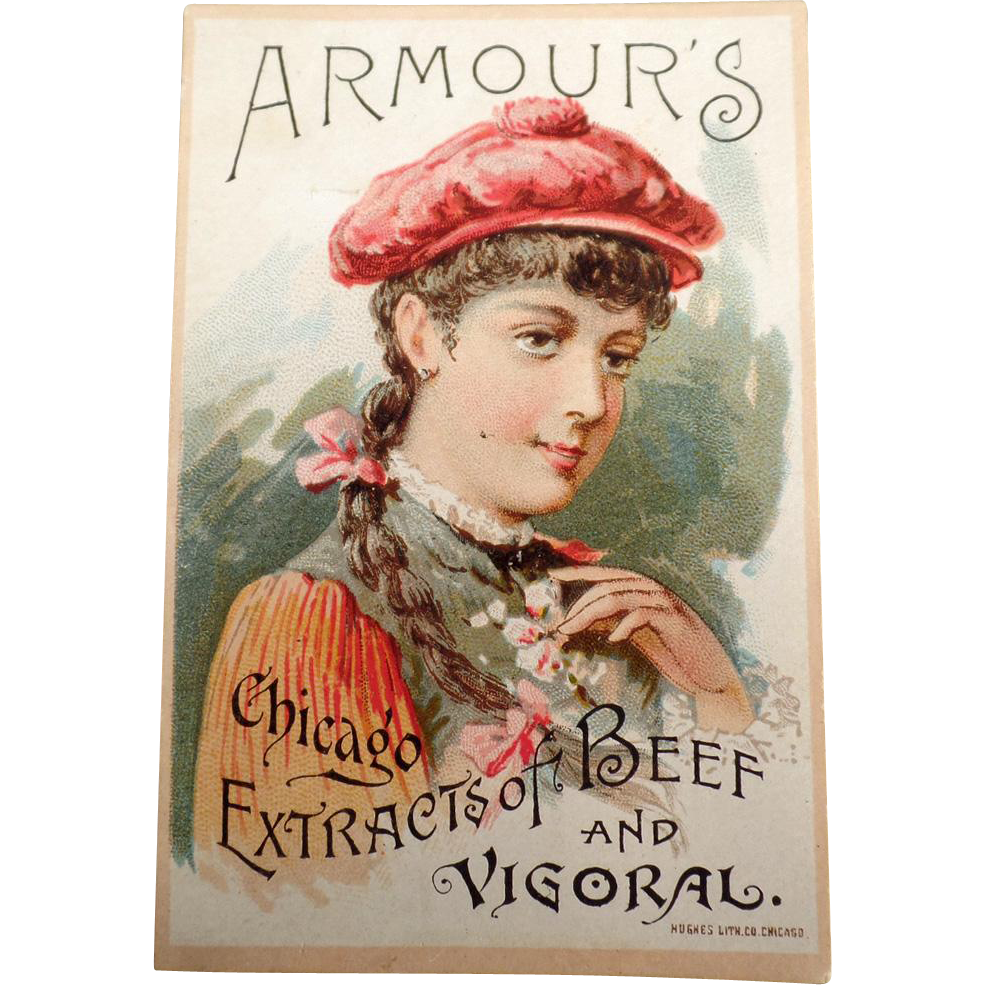Vintage Trade Card - 1891 Armour's Vigoral