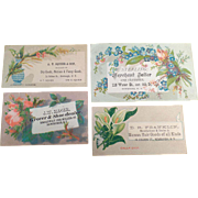 Four Vintage Trade Cards - 4 Businesses in Newburgh, New York