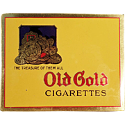 Vintage Cigarette Tin -  Old Gold Cigarettes Flat Tin - Very Nice Condition