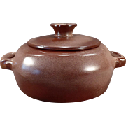 Vintage Frankoma - Plainsman 5V Casserole with Lid – Brown Glaze
