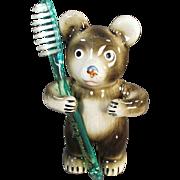 Vintage Toothbrush Holder - Figural Bear - Victoria Ceramics