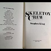 Vintage Book - Skelton Crew by Stephen King - 1985 Hardbound Edition